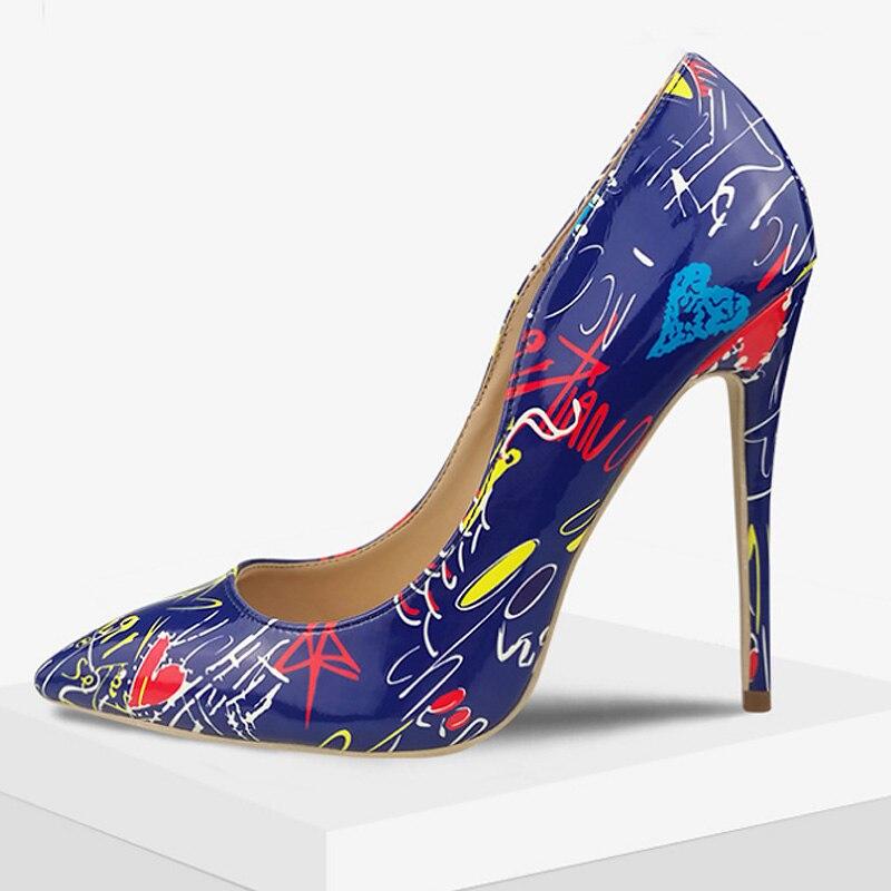 White Mélangées Talon Haute 5 blue Slip Luxe Partie De Pompes Taille Femmes Couleurs Grande 4 Femme Mince black 10 Chaussures Pointu Talons Bout on Sexy qpBnnxCwf