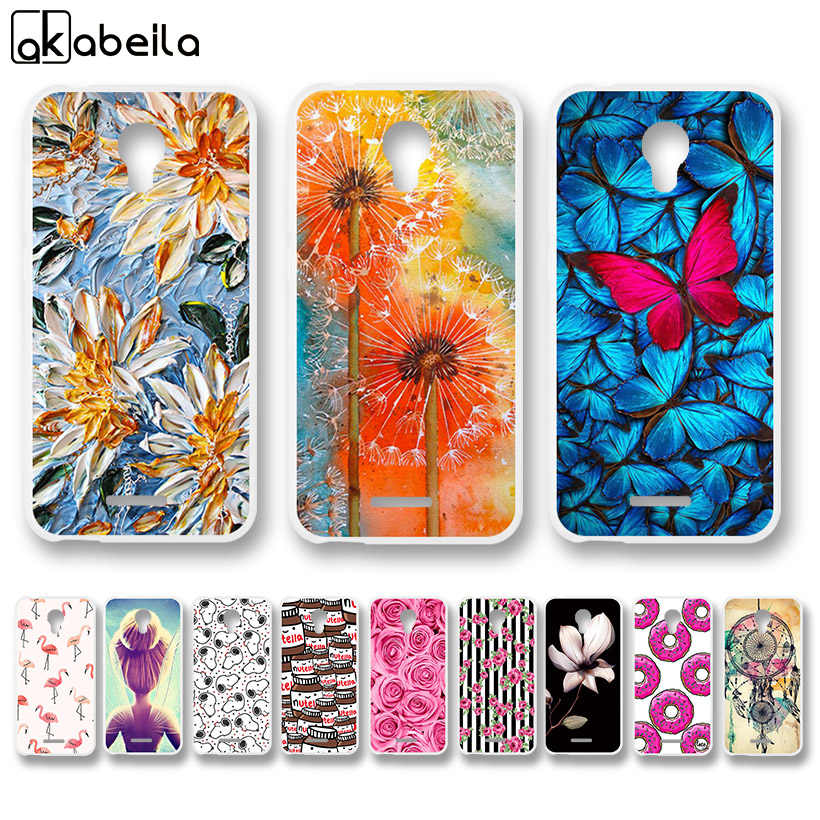 AKABEILA Soft TPU Fitted Cases For Alcatel Verso idealXCITE Cameo X 5044R  Raven LTE A574BL Nutella Flamingo Painted Back Cover