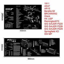 AR15 AK47 Glock чистящий резиновый коврик с схемой деталей и инструкциями оружейный коврик для мыши Smith Colt 1911