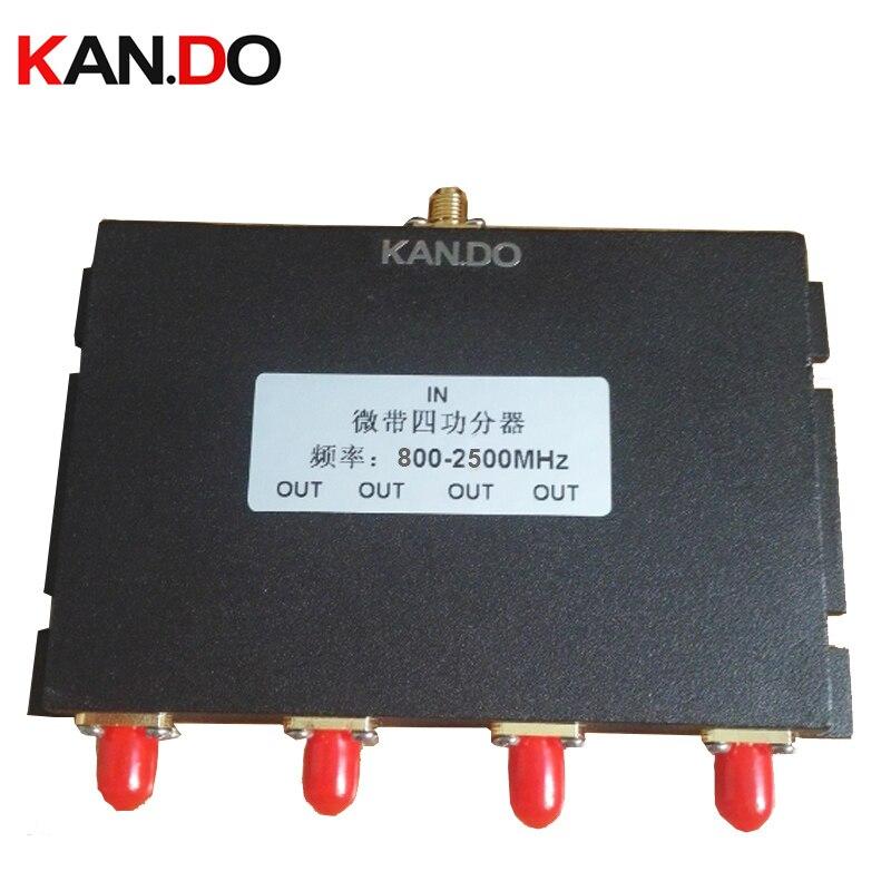 Utilisation télécom 4 Voies sma Répartiteur de Puissance 800 ~ 2500 MHz diviseur de puissance booster séparateur booster diviseur radio diviseur de fréquence