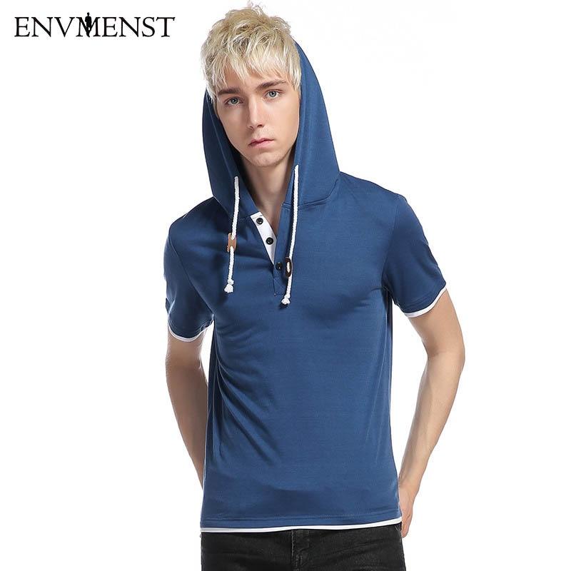 2017 hoody t shirt men unique hooded design mens fashion for Mens coral short sleeve dress shirt
