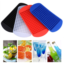 160 Grids Food Grade Silicone Ice Tray Fruit Ice Cube Maker Bar DIY Creative 1cm Ice Cube Mold Square Shape Kitchen Accessories недорого