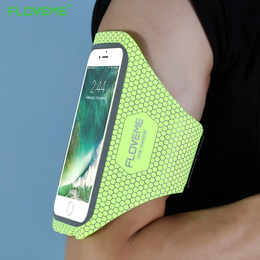 FLOVEME Sport Phone Case For iPhone X 8 7 6 6s Plus Arm Bag Case Waterproof Running GYM Bag Case 4.7 5.5 Inch Key Accessories