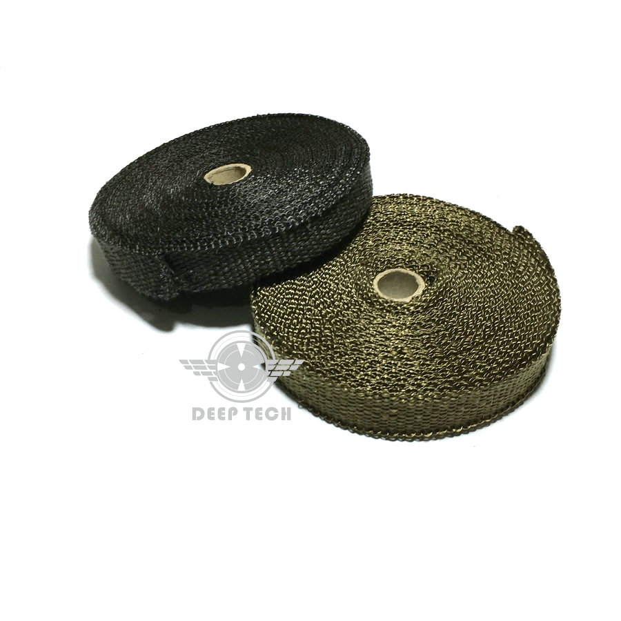 Image 2 - 10m Exhaust Muffler Pipe Tape Heat Resistant Wrap Black Exhaust Wrap Auto Motor Exhaust Manifold Heat Shield Wrap-in Exhaust & Exhaust Systems from Automobiles & Motorcycles