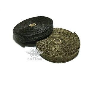 Image 2 - 10m Exhaust Muffler Pipe Tape Heat Resistant Wrap Black Exhaust Wrap Auto Motor Exhaust Manifold Heat Shield Wrap