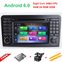 Wholesales 2 Din 7 Inch Android 6 01 Car DVD Player For Mercedes Benz ML GL