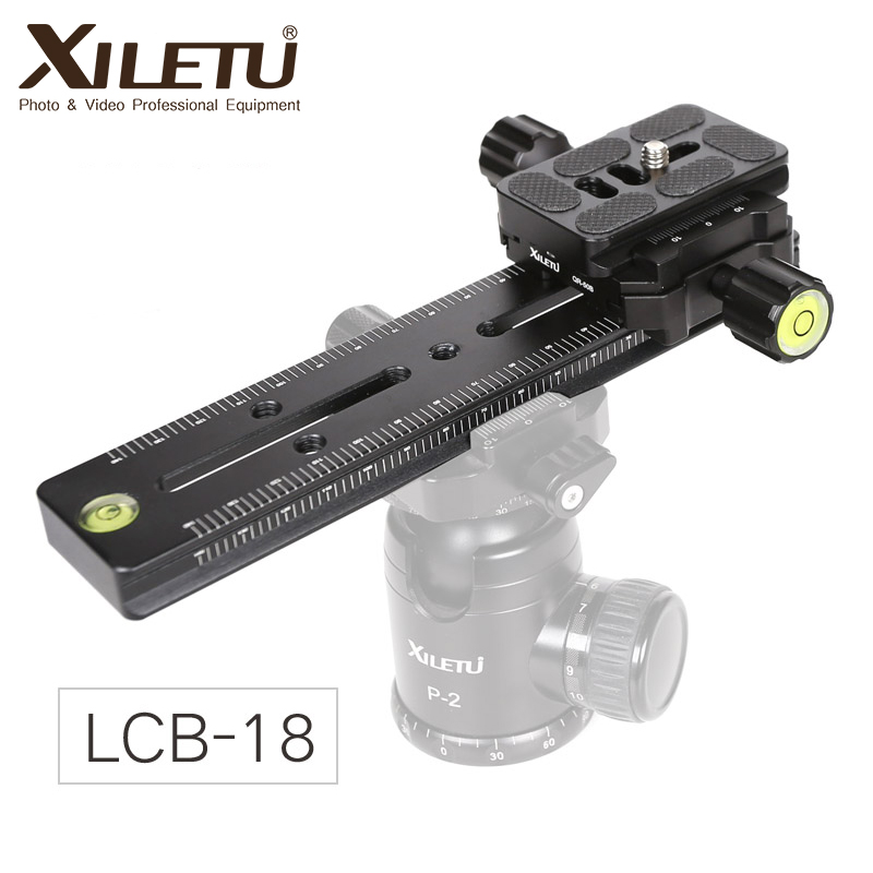 XILETU LCB-18B Track Dolly Slider Focusing Focus Rail Slider & Clamp And QR Plate Meet Arca Swiss For DSLR Camera Canon