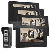 DIYSECUR 7inch Digital Screen Video Intercom Video Door Phone IR Night Vision Outdoor Camera Black
