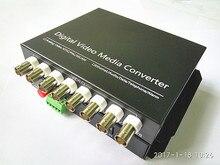 8V1D Оптический Конвертер Видео 8 Каналов Волоконно-Оптических Видео Оптический Передатчик и Приемник 8-КАНАЛЬНЫЙ + Данных RS485 1 Пара 2 Шт./лот