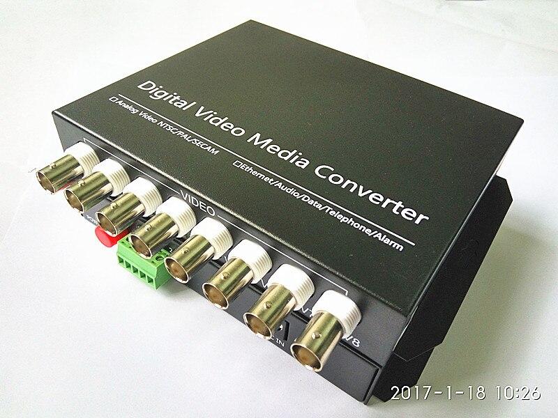 bilder für 8V1D Video Optical Converter 8 Kanal Glasfaser Video Optische Sender & Empfänger 8CH + RS485 Daten 1 Para 2 Teile/los