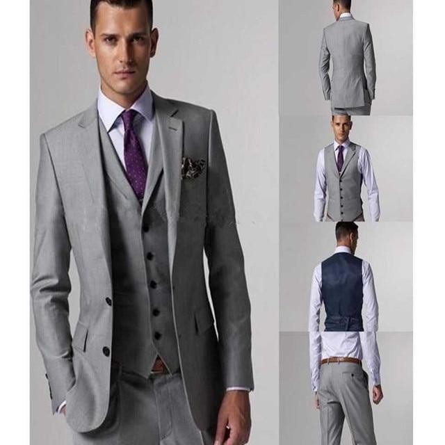 Aliexpress.com : Buy new Men\'s suits Slim Fit Light Grey Groom ...