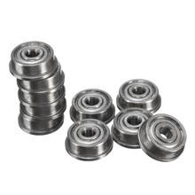 50Pcs F623ZZ 3d printer flange bushing ball bearings 3x10x4 mm Mini Metal Double Shielded Flanged Ball Bearings For 3D printer