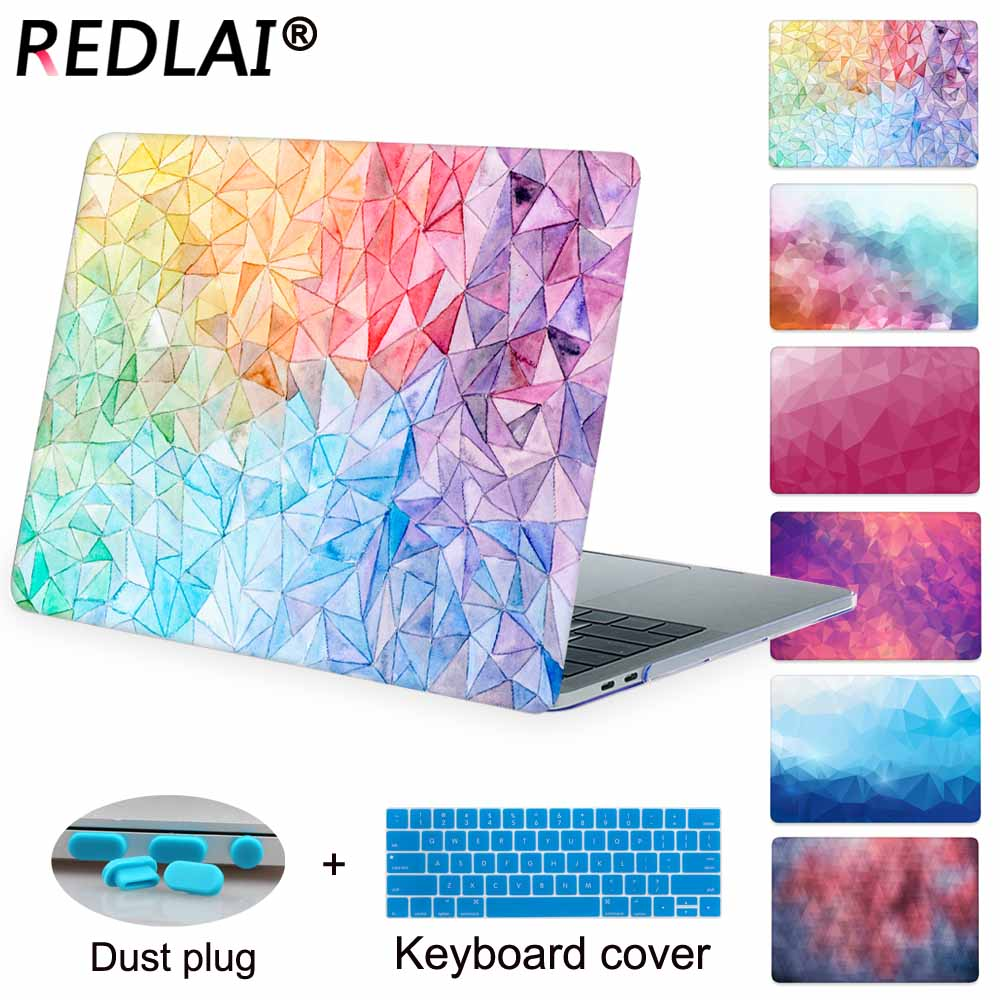 Redlai Geometric Crystal Clear Hard Case Cover for Macbook Pro 13.3 15.4 Retina 13 15 inch Macbook Air 13 Hard sell enkay crystal hard protective case for 13 inch macbook pro with retina display orange