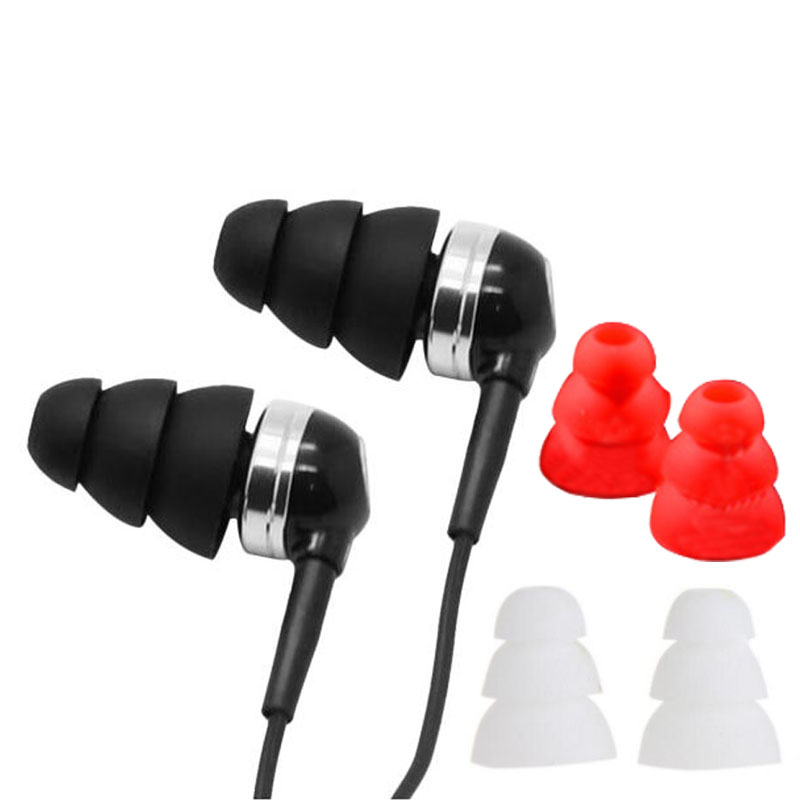 3 Layer Headphone Cap Headset Ear Bud Cover Earphone Tip Replacement 3 Pairs