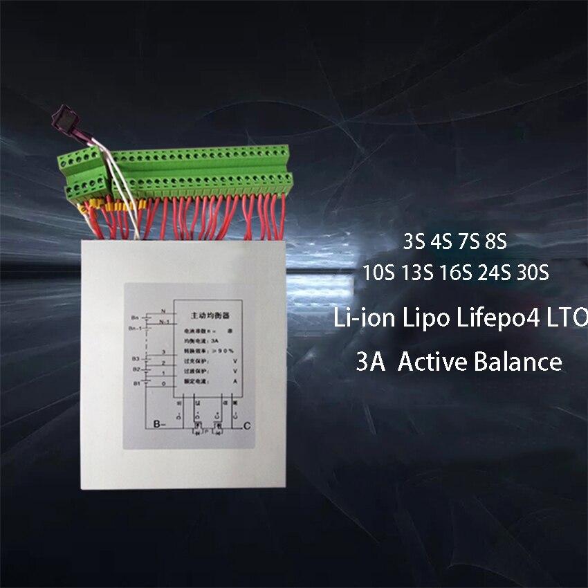 3A Li ion Lipo Lifepo4 LTO Battery Active Balance Board BMS Balancer Energy Transfer Equalizer 3S