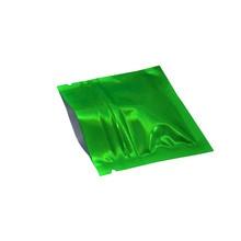 DHL Free Shipping 7.5*6cm Green Resealable Heat Sealable Ziplock Waterproof Aluminum Foil Packing Bag Mylar 2000pcs/lot