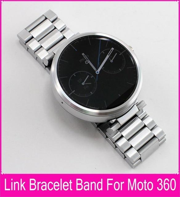 Оригинальный уточнены мастерства для мото 360 часы ремешок ремешок 22 мм черный нержавеющей стали ремешки для Motorola смарт часы