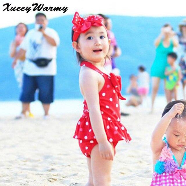 403e86df4473 Sunny Cute Baby Kids Girl Bikini Swimwear Red Kid Bathing Suits Baby ...