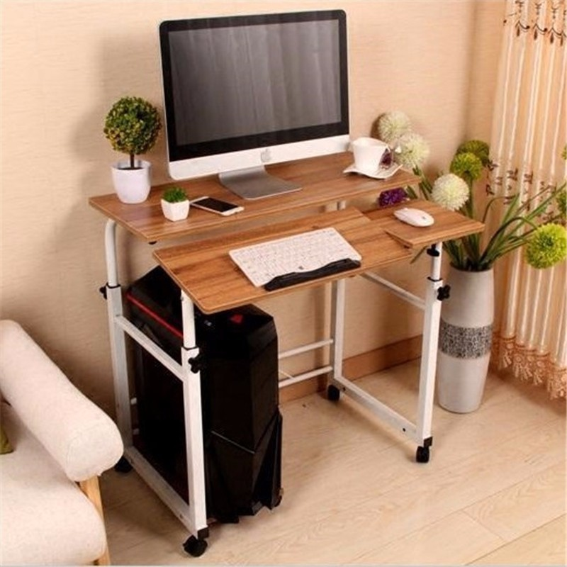 BSDT Simple modern desktop comter desk double plate lifting movable split multifunction household lazy table FREE SHIPPING vine sfere comter fashion leisure plastic creative office conference household cr free shipping