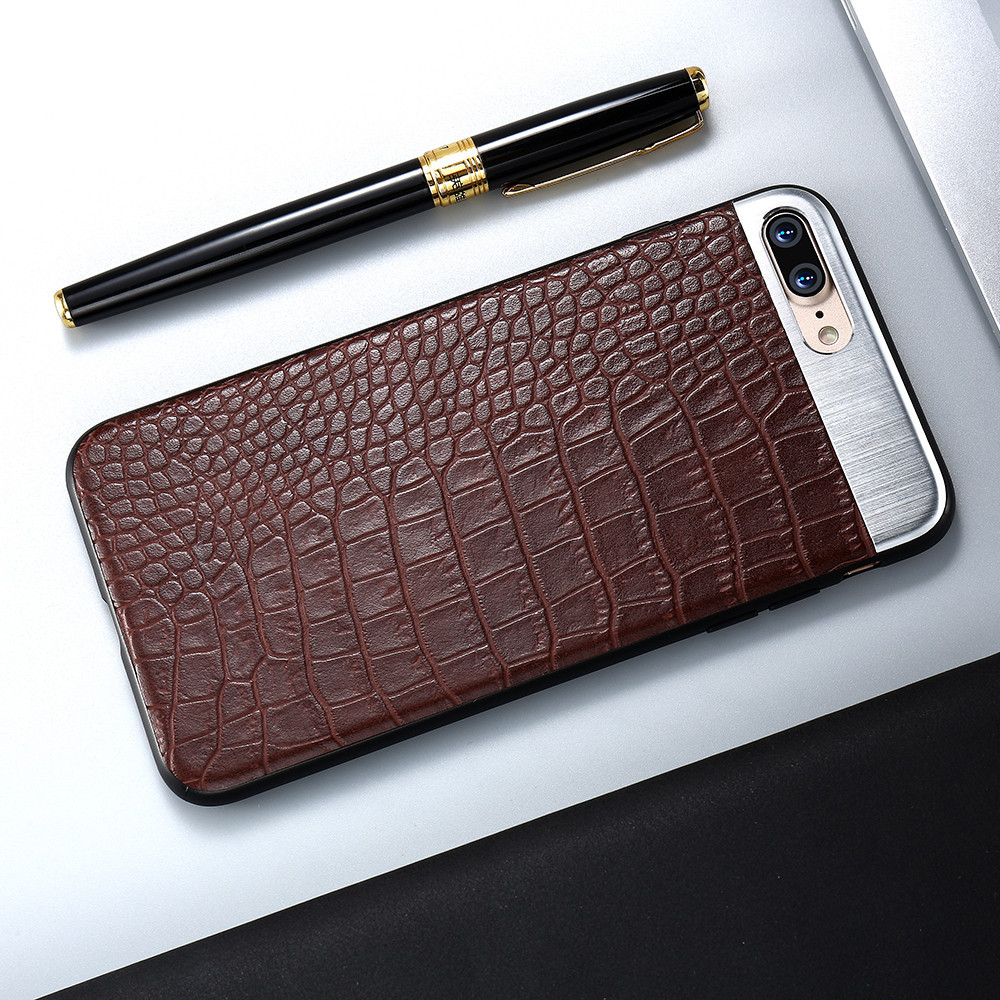 Kisscase PU кожаный чехол для телефона iPhone 6 6S 7 8 10 X крокодил полосой металла шить Чехол для iPhone 6 6S 7 plus Чехол чехол на айфон 7 чехол на айфон 8 чехол ...