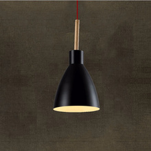 Fancy Hanging Lights E27 Holder LED Fixture Contemporary Pendant Lamp Iron Wooden Restaurant Decor Dining Room Lounge Dynasty
