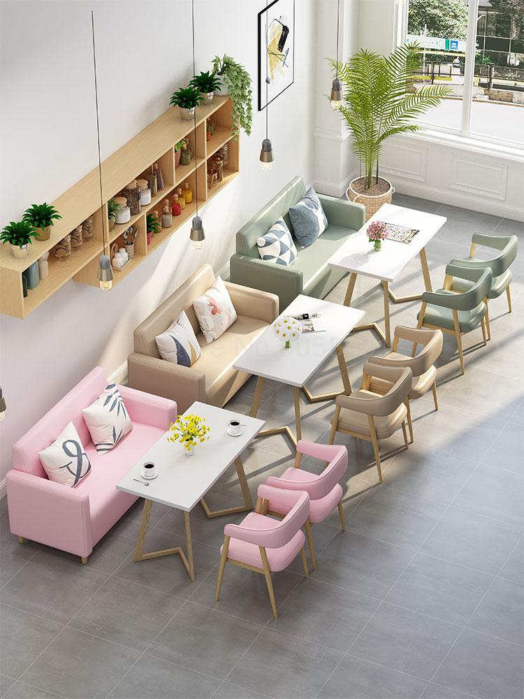 Net red dessert shop tea shop western restaurant snack fast food cafe restaurant card seat sofa table and chair combination