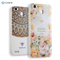 Super 3D Relief Printing Clear Soft TPU Back Cover Case For Huawei GR3 Enjoy 5S Ultra