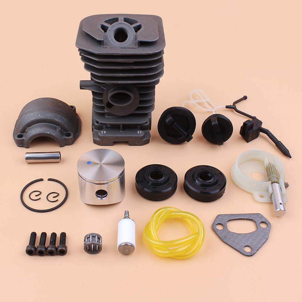 40MM Cylinder Piston Pan Oil Pump Oil Seal Cap Kit Fit Husqvarna 142 137 Gas Chainsaws Engine Motor Parts