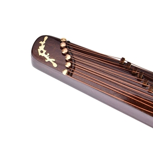 Image 2 - Mini instrumento Musical de madera caliente hecho a mano miniatura Guzheng modelo ornamentos regalos conmemorativos 10cm