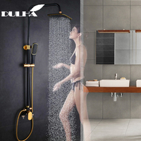 Bathroom Shower System Set Big Rain Waterfall Shower Faucet Mixer Cold&Hot Water Saving Mixing Valve Shower Head Hand Sprayer