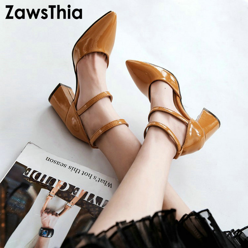 ZawsThia ankle wrap block high heels mary janes women bukle strap cover heel and toes elegant lady summer shoes pumps sandalsZawsThia ankle wrap block high heels mary janes women bukle strap cover heel and toes elegant lady summer shoes pumps sandals