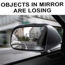 Автомобильное зеркало заднего вида, Предупреждение Стикеры s комплект 2 шт. объекты в зеркале теряют узор Автомобильная наклейка светоотражающая Водонепроницаемый Стикеры s