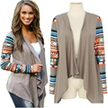 New Women's Print Cardigan Long Sleeve Sweater Casual Knitwear Jacket Outwear Hot LY3