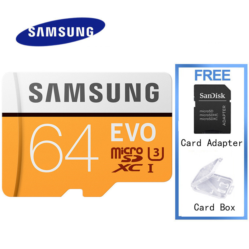 SAMSUNG 32gb Micro Sd Card For Phone Memory Card TF Card Class 10 EVO 32GB 64GB 128GB 100MB/S UHS-1 U3 U1 SDHC/SDXC Genuine Card 32gb samsung class 10 48mb s tf micro sd uhs i memory card