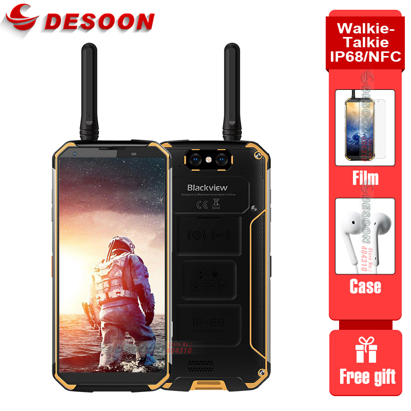 Walkie-Talkie Blackview BV9500 Pro Mobile Phone 4G Android 8.1 6GB+128GB Smartphone 10000mAh Battery NFC Wireless Charge Phone