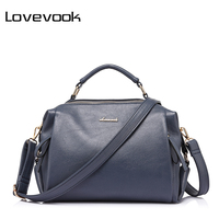 LOVEVOOK Brand Luxury Handbags Female Casual Tote Bag High Quality Artificial Leather Shoulder Bags 2017 Women
