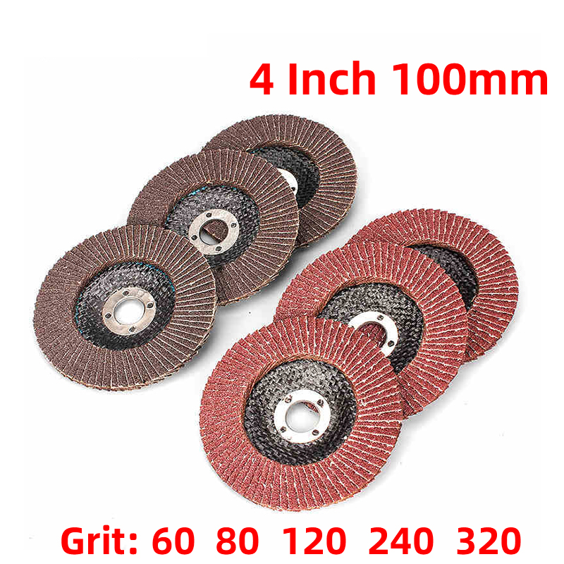 1Pcs 4Inch 100mm 12000rpm Grinding Wheels Flap Discs Angle Grinder Sanding Discs Metal Plastic Wood Abrasive Tool