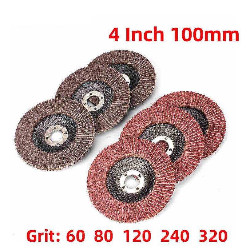 1Pcs 4Inch 100mm 12000rpm Grinding Wheels Flap Discs Angle Grinder Sanding Discs Metal Plastic Wood Abrasive Tool
