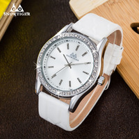 Watches Men Luxury Brand Quartz Clock Dive 30M Casual Army Military Sports Watch Genuine Leather White