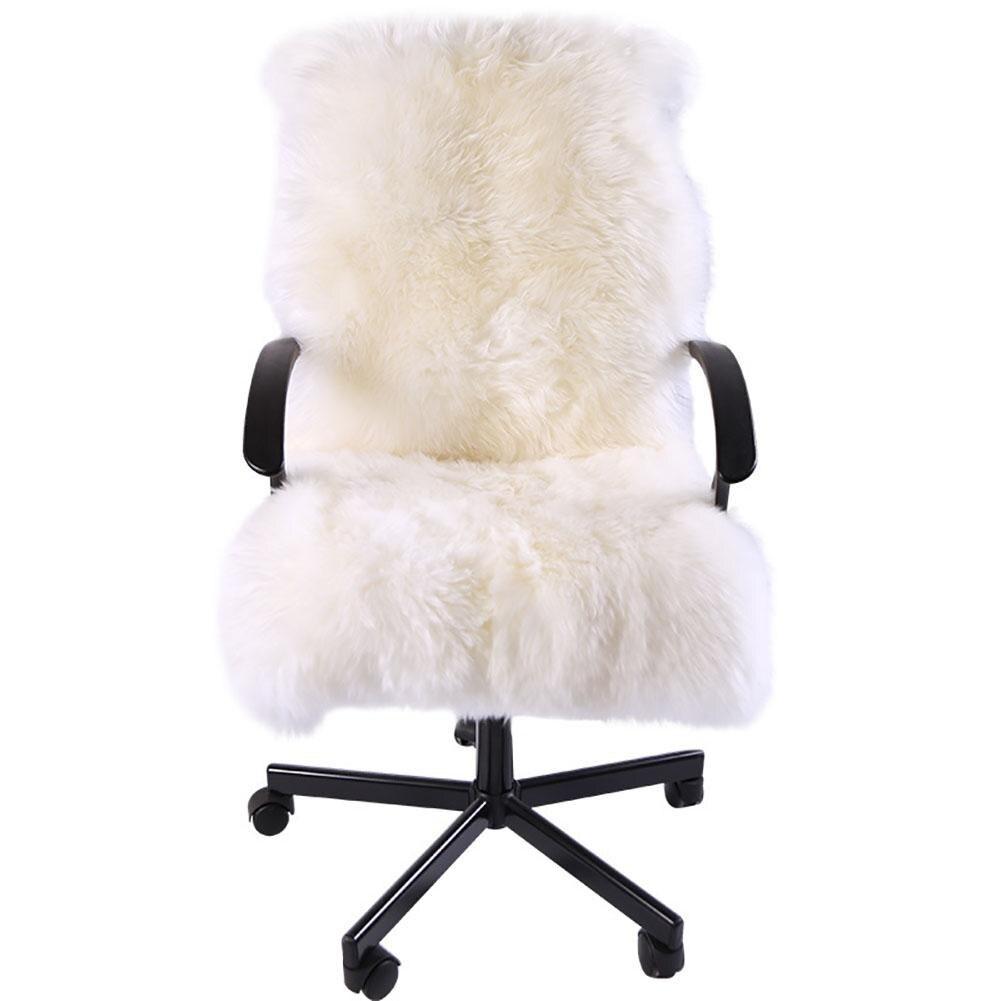 75*120CM Faux Fur cushion White Gray Sofa Couch Chair