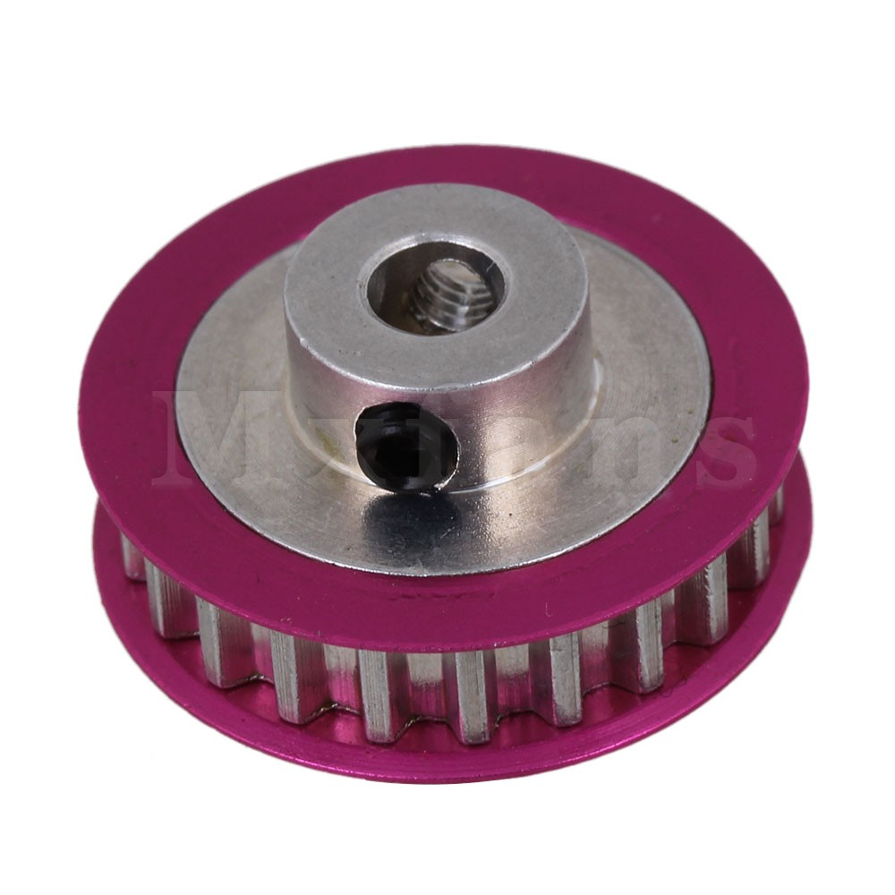 Mxfans Rose Red Color Aluminum Alloy 22T Pulley Gear for Sakura CS D3 Racing Car f008 20t aluminum alloy abs motor gear for r c 1 10 drifting racing car white red