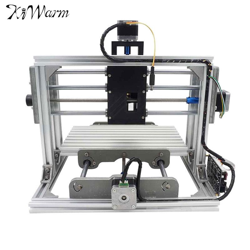 KiWarm Mini DIY CNC 2417 USB Desktop Engraver Machine Kit Pcb Milling Machine Cutter Metal Wood Carving Machine