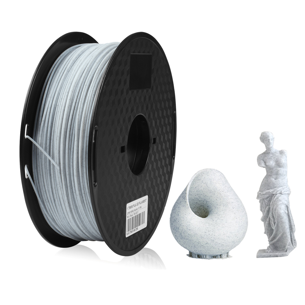 Marble Color 3D Printer PLA Filament 1.75MM 1KG Rock Texture Copper Gold Printing Material for Stone Ceramic Statue Creativity|3D Printing Materials|   - title=