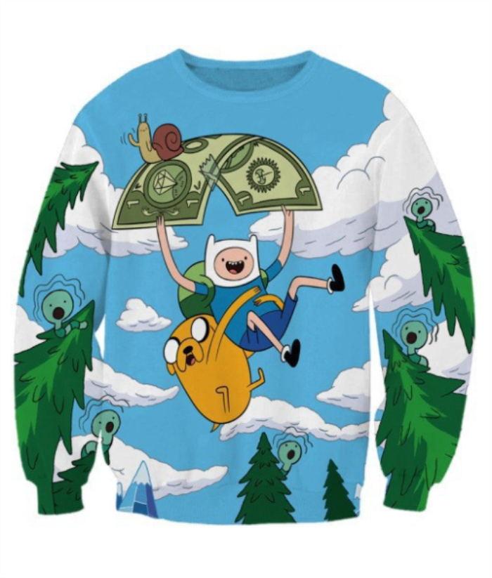 2018 NEW FASHION STYLE MEN WOMEN Anime Cartoon Sweat shirts Pullovers Tracksuit Streetwear Loose Thin Hoody Top