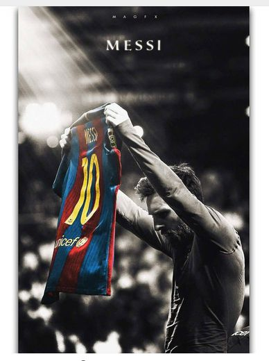 Lionel Messi Football Super Player Art Wall Decor Silk Print Poster