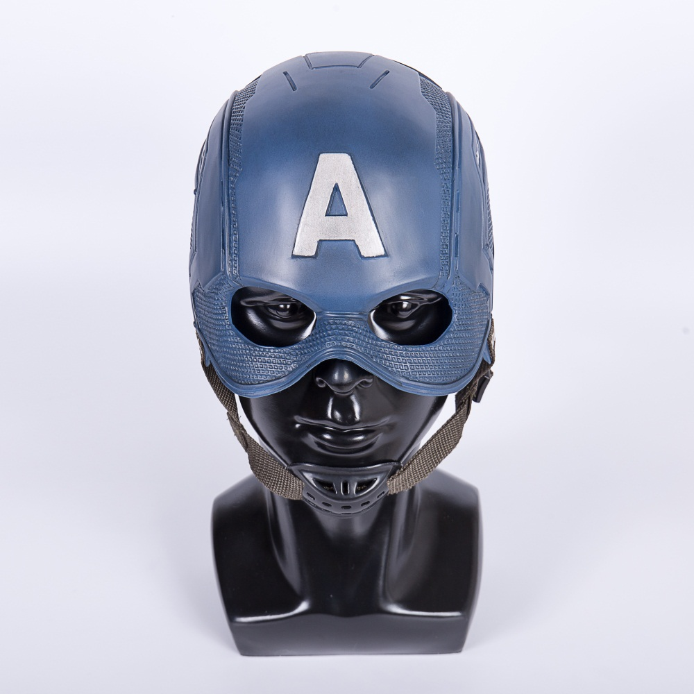 Cos Movie Superhero Civil War Captain America Helmet Cosplay Steven Rogers Mask PVC Man Adult Halloween Party Prop