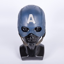Cos Movie Superhero Inbördeskrig Kapten Amerika Hjälm Cosplay Steven Rogers Mask PVC Man Vuxen Halloween Party Prop