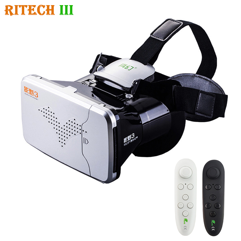 RITECH III <font><b>VR</b></font> <font><b>Virtual</b></font> <font><b>Reality</b></font> 3D Glasses Headset <font><b>Head</b></font> <font><b>Mount</b></font> <font><b>Helmet</b></font> Cardboard 360 <font><b>Video</b></font> for 4-6' Mobile Phone with <font><b>vr</b></font> controller