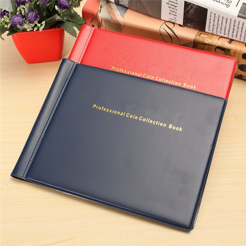10 Pages 180 Units Coin Album Collection Money Penny Stock Coin Holders Album Book For Coins Collection Holder ...
