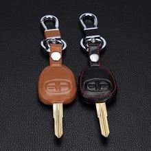 Portefeuille pour clé télécommande à 2 boutons, couvercle en cuir véritable, pour Mitsubishi outlander ASX colt LANCER Grandis Pajero sport, nouveau design
